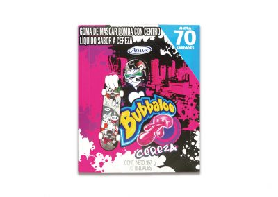 Chiclets Bubbaloo Cereza
